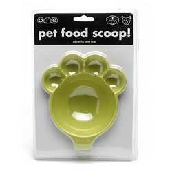 O.R.E Pet Food Scoop Two Tone Paw/Green-F398